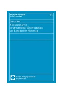 Abbildung von Strukturanalyse strafrechtlicher Großverfahren am Landgericht Hamburg | 1998 | 23
