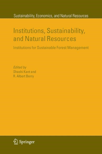 Abbildung von Kant / Berry | Institutions, Sustainability, and Natural Resources | 2005