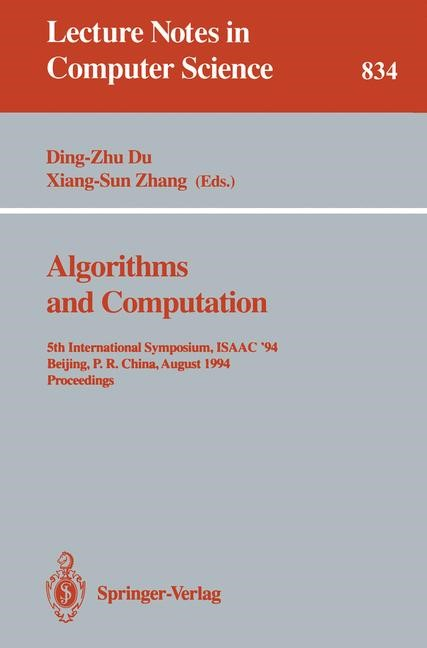Algorithms and Computation | Du / Zhang, 1994 | Buch (Cover)