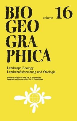 Abbildung von Müller / Rathjens   Landscape Ecology/Landschaftsforschung und Ökologie   1979   Volume in Honour of Prof. Dr. ...   16