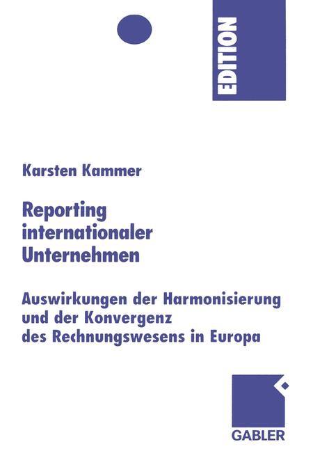 Reporting internationaler Unternehmen | Kammer, 2005 | Buch (Cover)