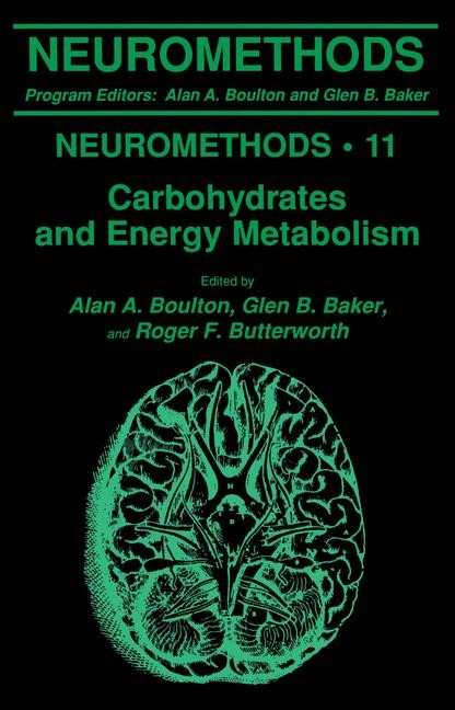 Carbohydrates and Energy Metabolism | Boulton / Baker / Butterworth, 1989 | Buch (Cover)