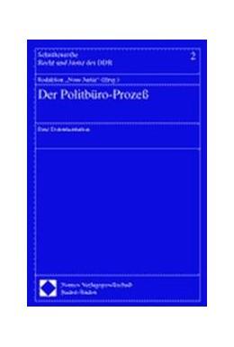 Abbildung von Der Politbüro-Prozeß | 2001 | Eine Dokumentation | 2
