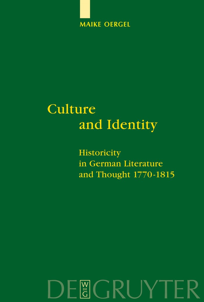 Culture and Identity | Oergel, 2006 | Buch (Cover)