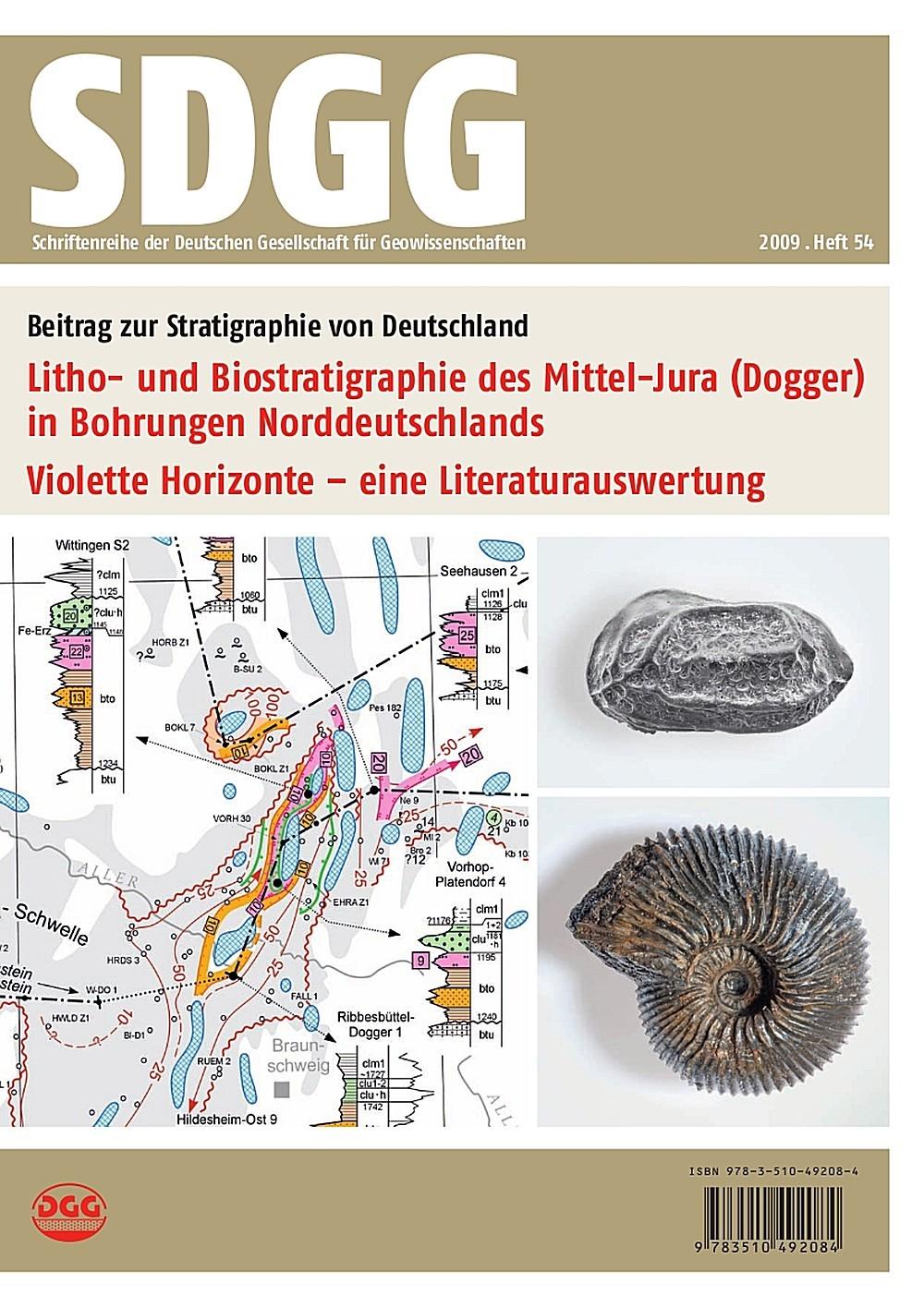 Litho- und Biostratigraphie des Mittel-Jura (Dogger) in Bohrungen Norddeutschlands - Violette Horizonte - eine Literaturauswertung | Brand / Mönnig / Dachroth, 2010 | Buch (Cover)