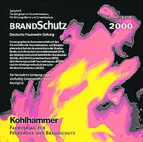 Abbildung von BRANDSchutz 2000 auf CD-ROM | 54. Jahrgang | 2001