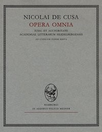 Nicolai de Cusa Opera omnia / Opuscula II. Fasciculus 2. De deo unitrino principio | Bormann / Nikolaus von Kues /, 1988 | Buch (Cover)
