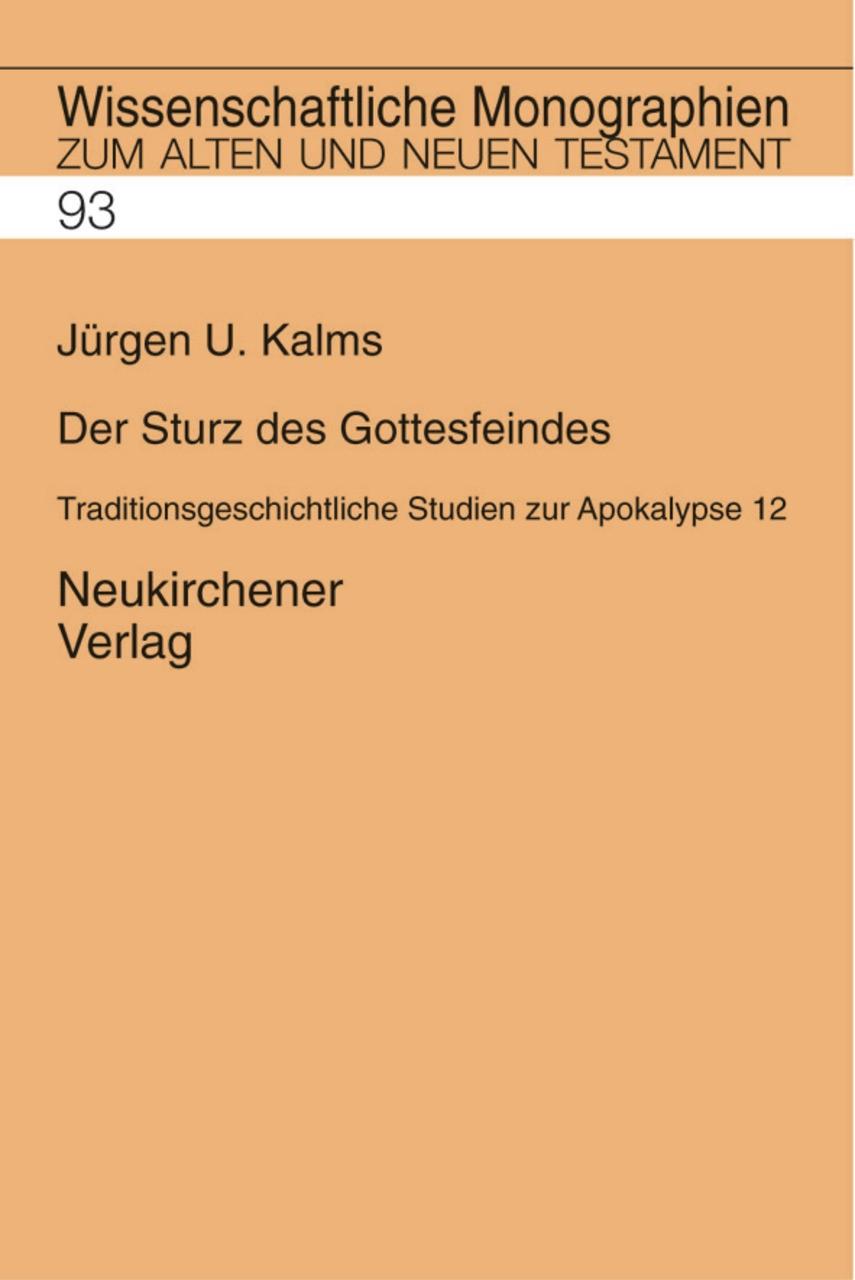 Der Sturz des Gottesfeindes | Kalms, 2001 | Buch (Cover)