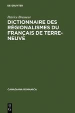 Dictionnaire des régionalismes du français de Terre-Neuve | Brasseur | Reprint 2011, 2001 | Buch (Cover)