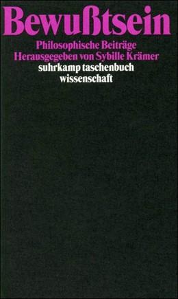 Abbildung von Krämer   Bewußtsein   Erstausgabe   1996   Philosophische Beiträge   1240