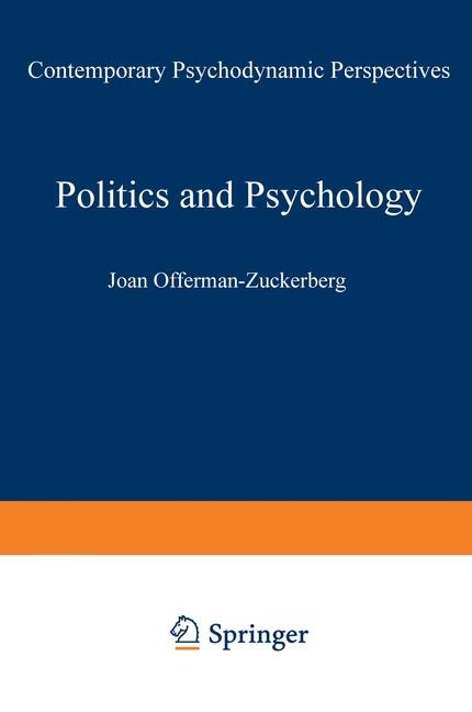 Politics and Psychology | Offerman-Zuckerberg, 1991 | Buch (Cover)