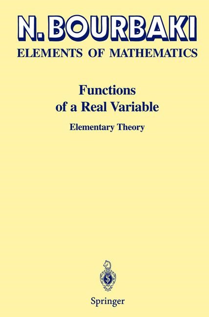 Functions of a Real Variable | Bourbaki, 2003 | Buch (Cover)