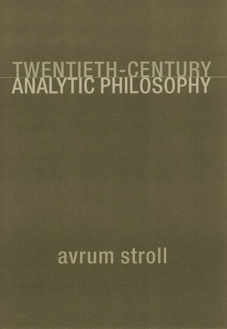 Abbildung von Stroll | Twentieth-Century Analytic Philosophy | 2000