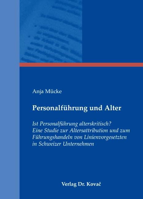 Personalführung und Alter | Mücke, 2008 | Buch (Cover)
