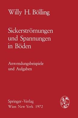 Abbildung von Bölling   Sickerströmungen und Spannungen in Böden   1972   Anwendungsbeispiele und Aufgab...