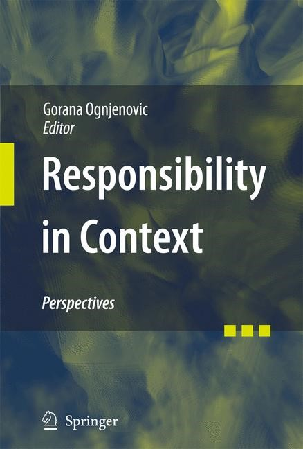Responsibility in Context | Ognjenovic, 2009 | Buch (Cover)