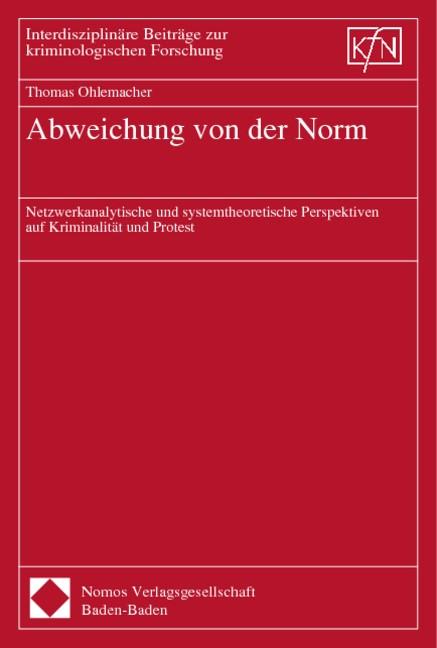 Abweichung von der Norm | Ohlemacher, 2000 | Buch (Cover)