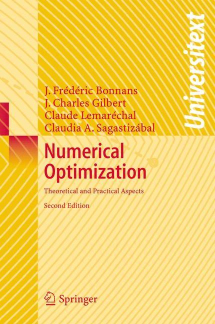 Abbildung von Bonnans / Gilbert / Lemarechal | Numerical Optimization | 2nd ed. | 2006