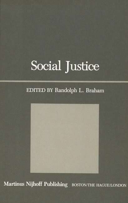 Social Justice | Braham, 1981 | Buch (Cover)
