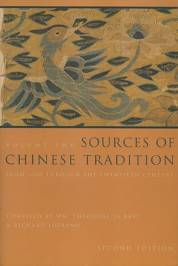 Abbildung von Bary / Lufrano | Sources of Chinese Tradition | second edition | 2001 | From 1600 Through the Twentiet...