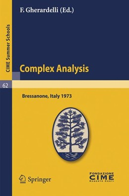 Abbildung von Gherardelli | Complex Analysis | Reprint of the 1st. ed. C.I.M.E., Ed. Ceromonese, Roma, 1974. | 2010 | Lectures given at a Summer Sch... | 62