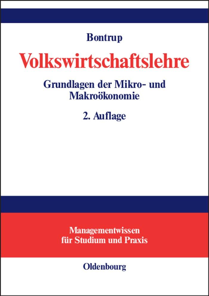 Volkswirtschaftslehre   Bontrup   unwesentlich veränderte Auflage, 2004   Buch (Cover)