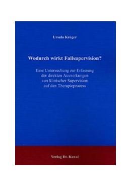 Abbildung von Kröger | Wodurch wirkt Fallsupervision? | 2002 | Eine Untersuchung zur Erfassun... | 2