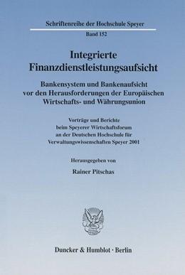 Abbildung von Pitschas | Integrierte Finanzdienstleistungsaufsicht. | 2002 | Bankensystem und Bankenaufsich... | 152