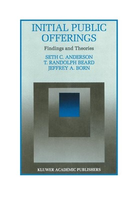 Abbildung von Anderson / Beard   Initial Public Offerings: Findings and Theories   1. Auflage   1995   8   beck-shop.de