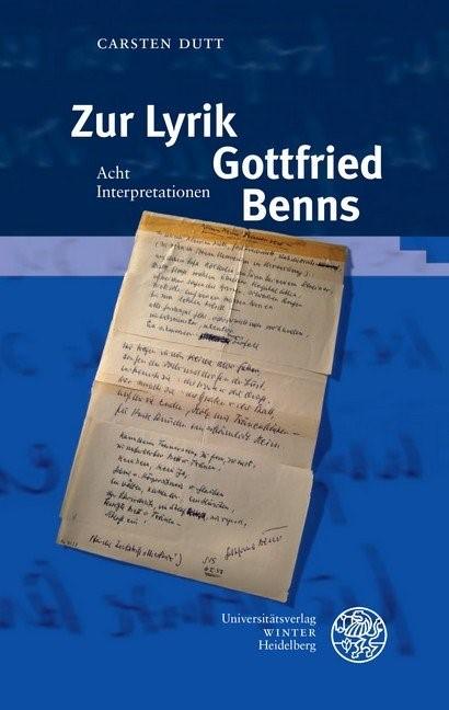 Abbildung von Dutt   Zur Lyrik Gottfried Benns   2019