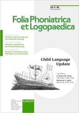 Abbildung von Cheng / Butler | Child Language Update | 2002 | Special Topic Issue: Folia Pho...