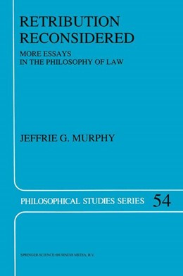 Abbildung von Murphy | Retribution Reconsidered | 1992 | More Essays in the Philosophy ... | 54
