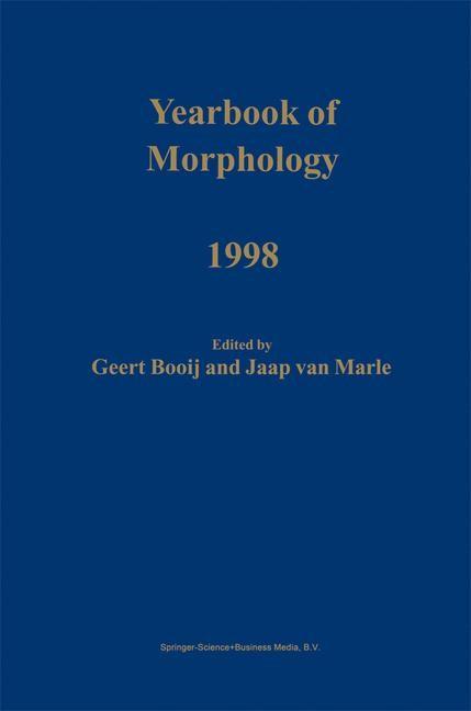Yearbook of Morphology 1998   Booij / van Marle   1999, 1999   Buch (Cover)