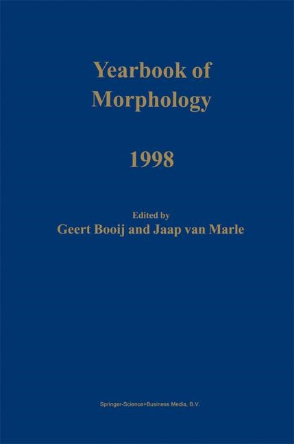 Abbildung von Booij / van Marle   Yearbook of Morphology 1998   1999   1999