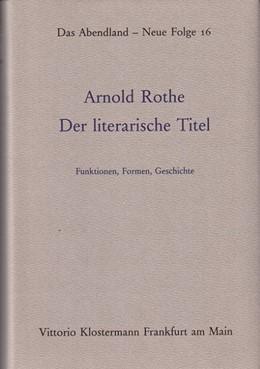 Abbildung von Der literarische Titel | 1986 | 16