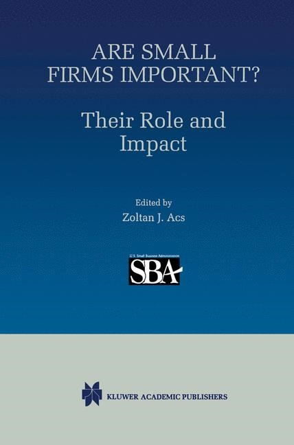 Abbildung von Ackermann | Are Small Firms Important? Their Role and Impact | 1999