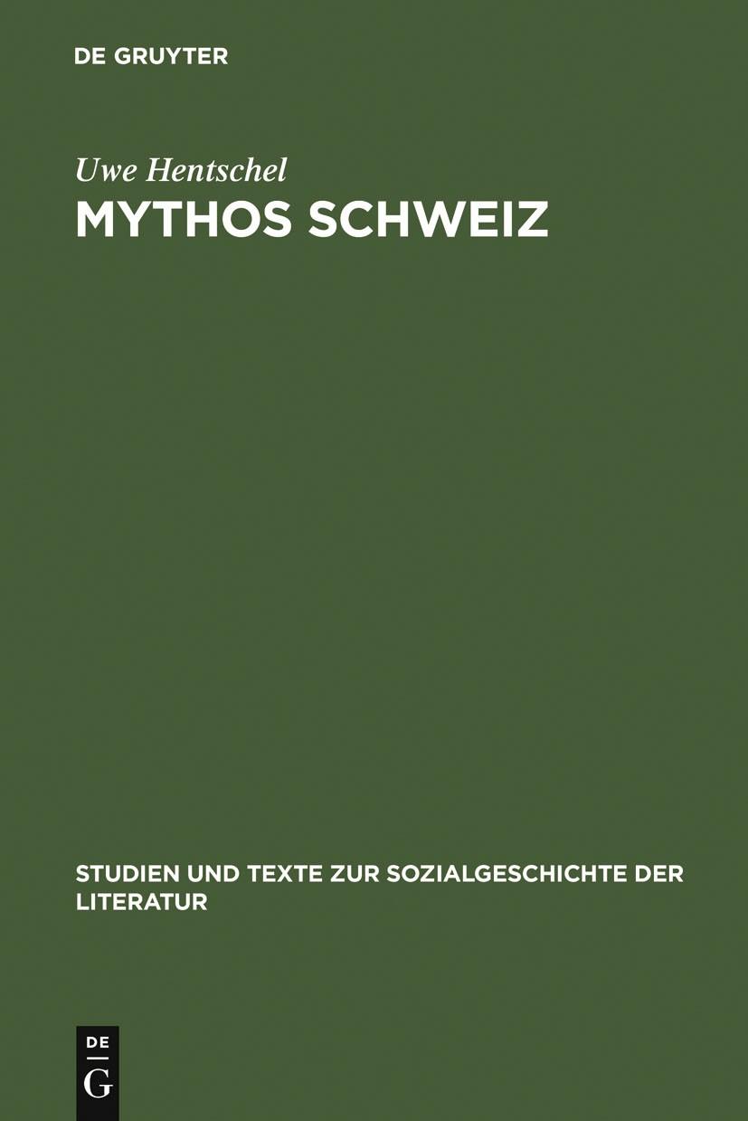 Abbildung von Hentschel | Mythos Schweiz | 2002