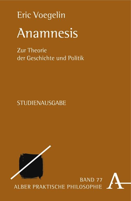 Abbildung von Voegelin | Anamnesis | 2005