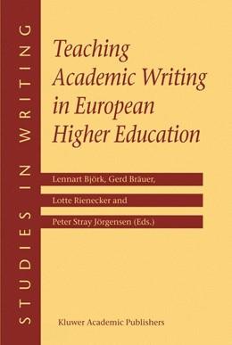 Abbildung von Björk / Bräuer / Rienecker / Stray Jörgensen | Teaching Academic Writing in European Higher Education | 2003