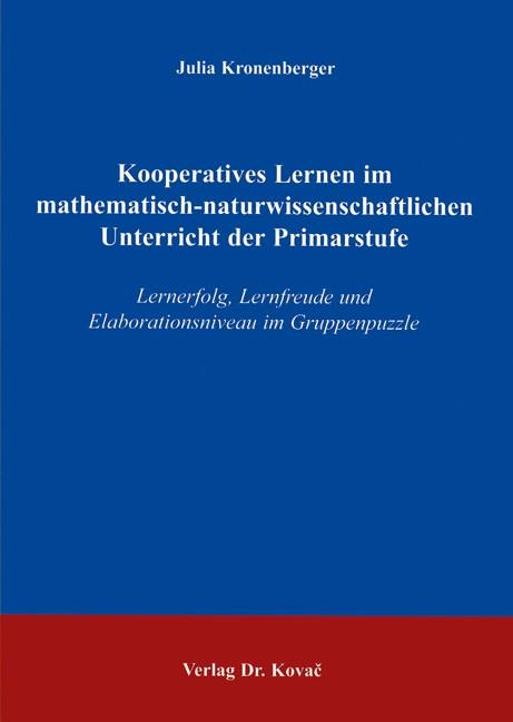 Abbildung von Kronenberger | Kooperatives Lernen im mathematisch-naturwissenschaftlichen Unterricht der Primarstufe | 2004