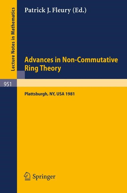 Abbildung von Fleury | Advances in Non-Commutative Ring Theory | 1982