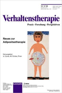 Abbildung von Cuntz / Fichter | Neues zur Adipositastherapie | 2002 | Themenheft: Verhaltenstherapie...