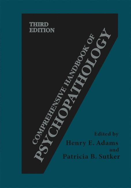 Comprehensive Handbook of Psychopathology | Adams / Sutker | 3rd ed. 2004, 2001 | Buch (Cover)