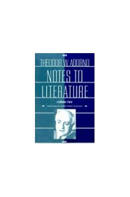 Abbildung von Adorno | Notes to Literature | 1994