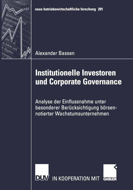 Abbildung von Bassen | Institutionelle Investoren und Corporate Governance | 2002