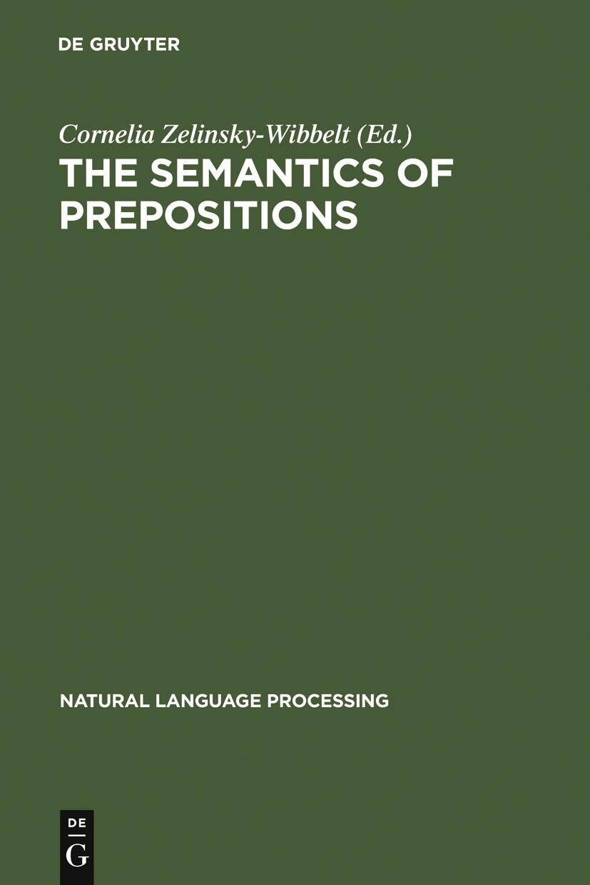 Abbildung von Zelinsky-Wibbelt | The Semantics of Prepositions | Reprint 2011 | 1993