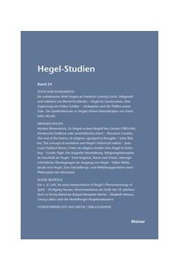 Abbildung von Nicolin / Pöggeler | Hegel-Studien / Hegel-Studien | 1989