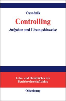 Abbildung von Ossadnik   Controlling   2006   Aufgaben und Lösungshinweise