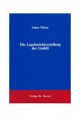 Abbildung von Witten   Die Lageberichterstellung der GmbH   1986