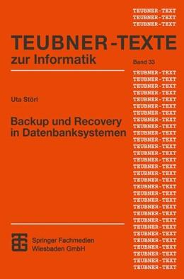 Abbildung von Störl | Backup und Recovery in Datenbanksystemen | 2001 | Verfahren, Klassifikation, Imp... | 33